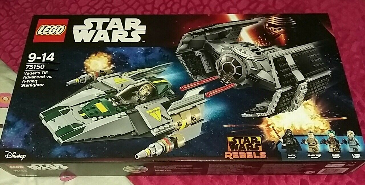 Lego Star Wars 75150 Vader's TIE Advanced Vs A-Wing Starfighter New Sealed