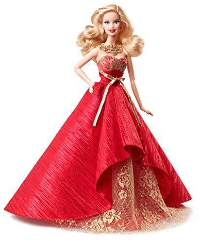Bambola Barbie da collezione Vacanze con sorprendente Abito Da Sera-Natale da collezione F