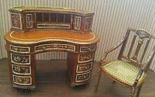 Dollhouse miniature Bespaq gorgeous desk and chair