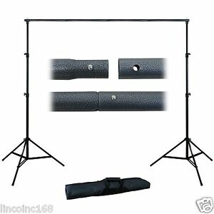 Photography 10Ft Adjustable Background Support Stand Photo Backdrop Crossbar Kit 755746524449