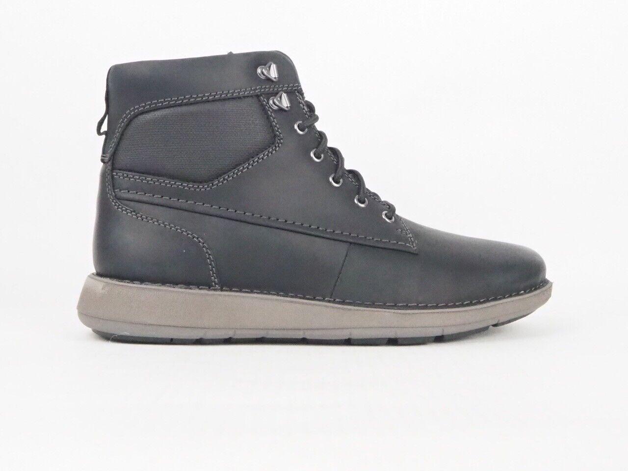 Mens Clarks Unstructured 11826 Un Larvik Peak Black Leather Lace Up Boots
