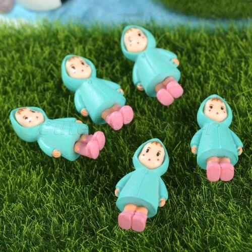1//5pcs Resin Miniature Girl Figurine Fairy Dollhouse Garden Ornament Craft Decor