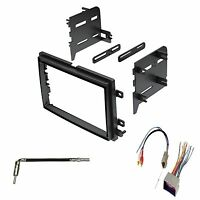 Double Din Dash Kit For Aftermarket Stereo Radio Install W/ Wire Harness Antenna on sale