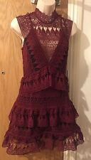Self-Portrait Teardrop Panelled Guipure-Lace Mini Dress Size UK 8, 12