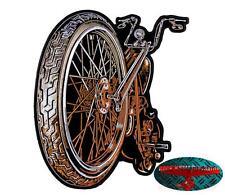 CHOPPER Backpatch  groß Aufnäher Aufbügler Biker Rocker Harley Springer 1% V2