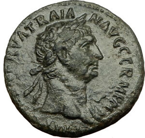 TRAJAN-98AD-Rome-Authentic-Ancient-Original-Genuine-Roman-Coin-VICTORY-i65460