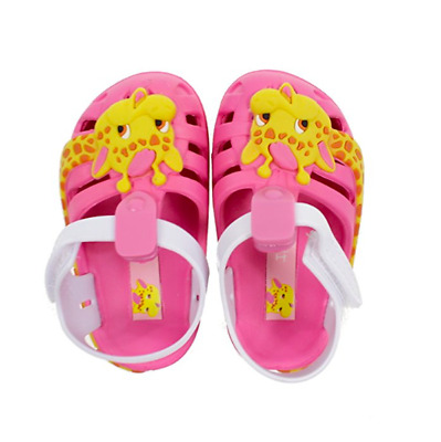 See Sizes Ipanema Baby Summer Zoo Giraffe Sandals Infant Girl Beach Shoes Pink