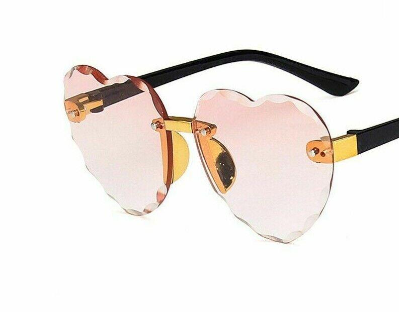 Heart Shape Rimless Sunglasses Fashion Outdoor Travel UV400 Protection Eyewear
