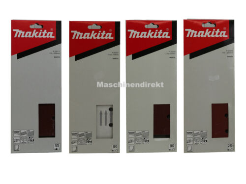 Makita Schleifpapier Set 115 x 229 mm K 120 150 180 240 z.B P-33211 P-33249