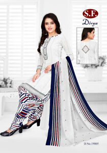 Salwar Kameez Unstitched New Latest Soft Synthetic Leon Punjabi Indian Crepe