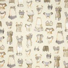 Unmentionables Victorian Lady's Undergarments Lingerie Cotton Fabric Fat Quarter