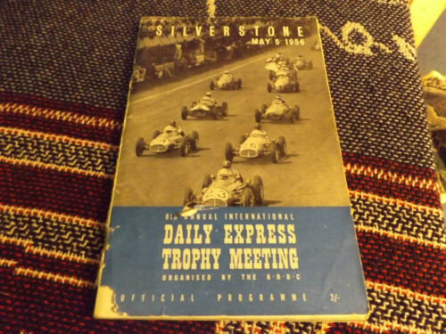 1956 SILVERSTONE PROGRAMME 5556 DAILY EXPRESS INTERNATIONAL TROPHY