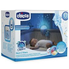 Chicco Next 2 Stars Cot Projector Nightlight Soother with Music & Light (Blue)