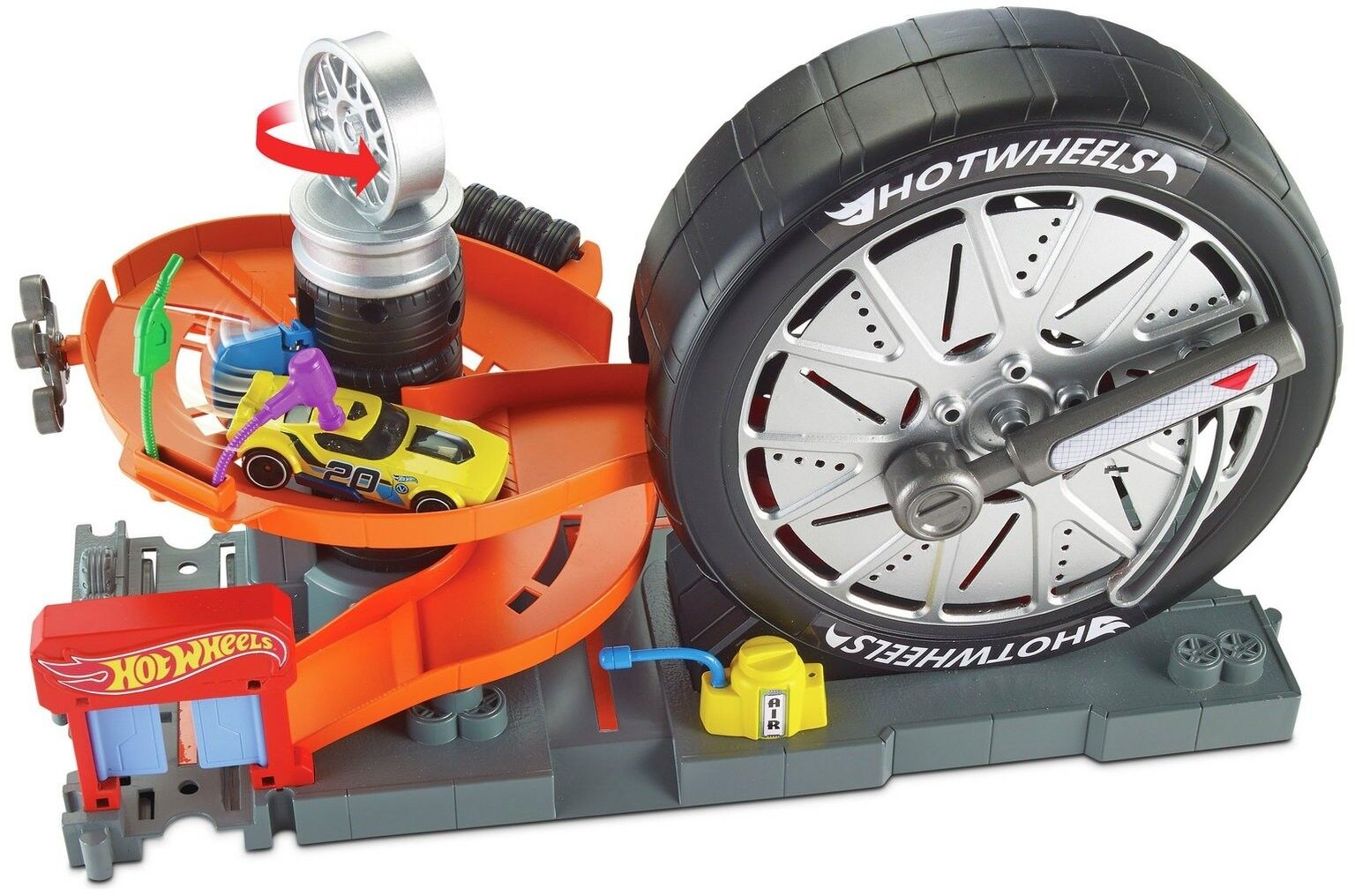 Roues City Super Spin Tire Shop Playset