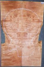 Curly Maple Burl Wood #6442 Luthier 5A Electric Guitar Top Set 24 x 16 x 7/16