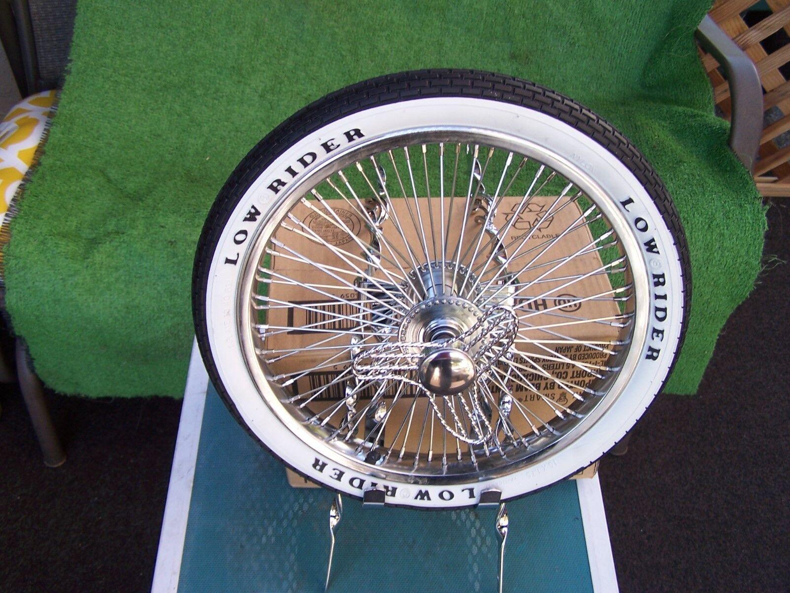 Bicicleta Lowrider Twist Jaula Neumático De Repuesto Kit 72 radios rueda golpe apagado Tubo neumático