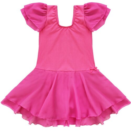 Kids Leotard Gymnastics Ballet Dress Girls Tutu Dance Skirt Party Dress Costume