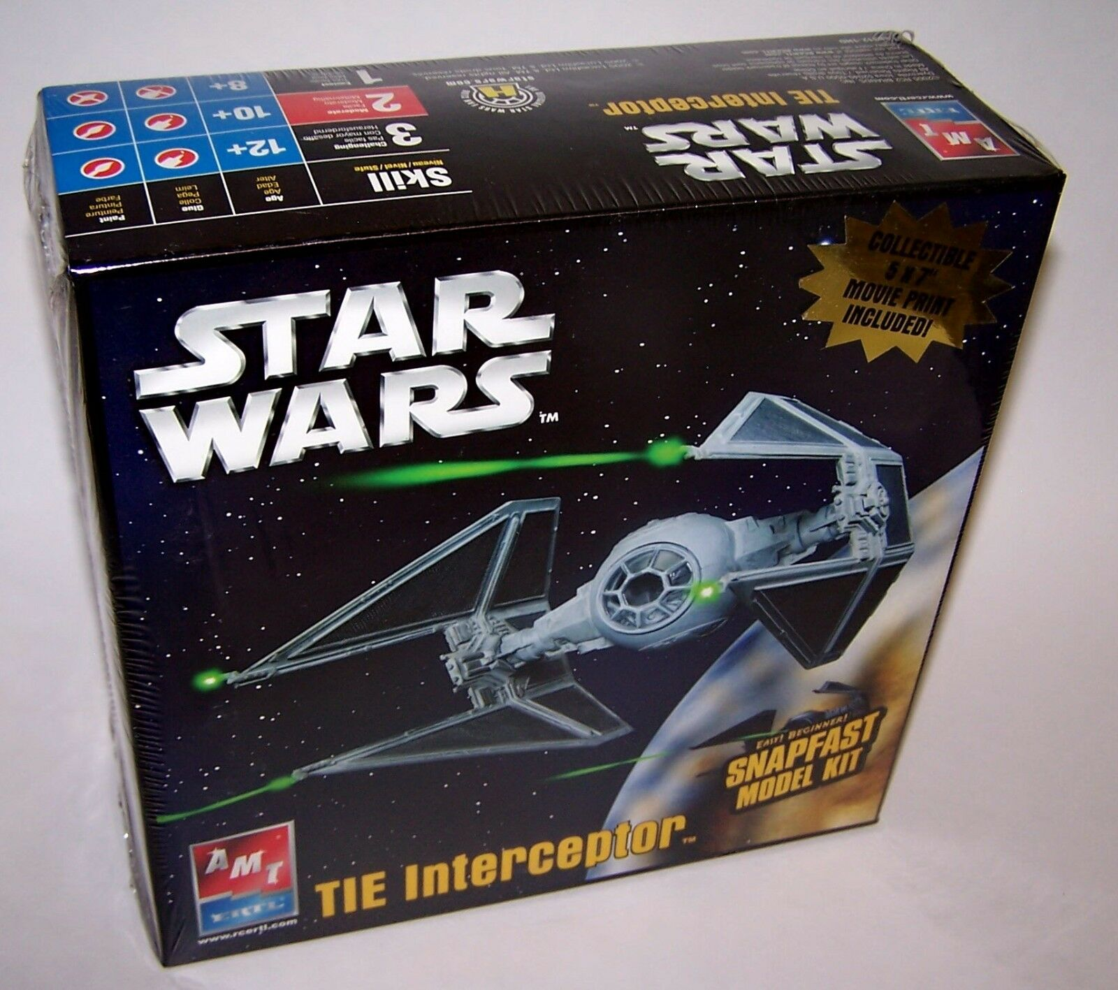 Star Wars Tie Interceptor Snapfast Model Kit 5x7 Movie Print Included NIB Sealed
