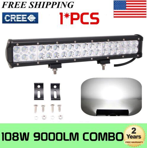 "CREE 17inch 108W LED Light Bar Combo Beam Offroad Driving 4WD Truck ATV PK 18/"""