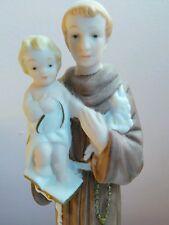 St.Francis Infant Jesus Porcelain Figure Statue Lamp Light