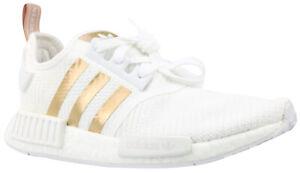 Details zu Adidas NMD R1 W Damen Sneaker Turnschuhe Schuhe weiß gold B37650  Gr. 44 NEU