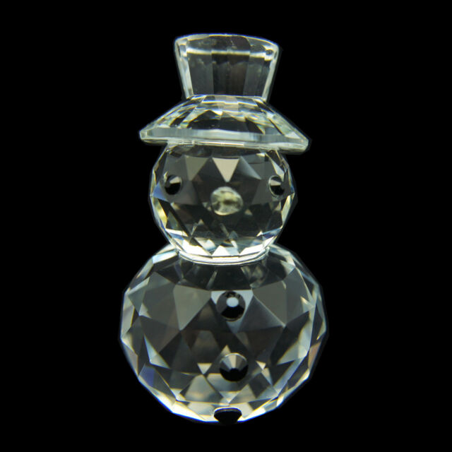 Snowman Austrian crystal figurine ornament