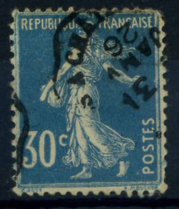 Francia-1922-Yv-59-Usato-40-Soprastampato-30-c-Seminatrice