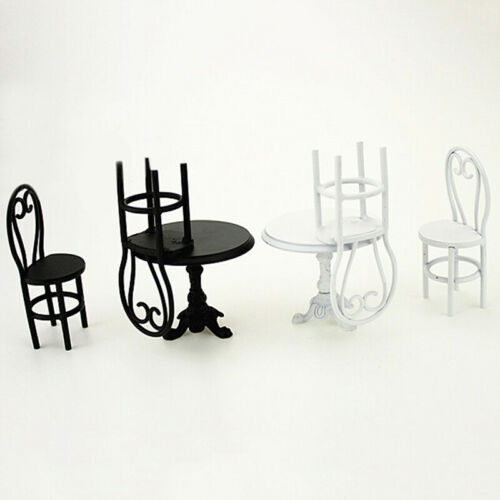 1:12 Miniature casual dining table and chairs dollhouse diy decor accessoriesJF