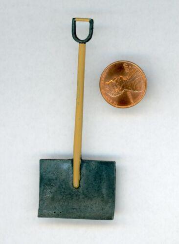 Miniature Dollhouse Black Handle Snow Shovel ISL