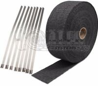Yamaha 2 X 50' Motorcycle Protection Header Exhaust Heat Wrap - Black