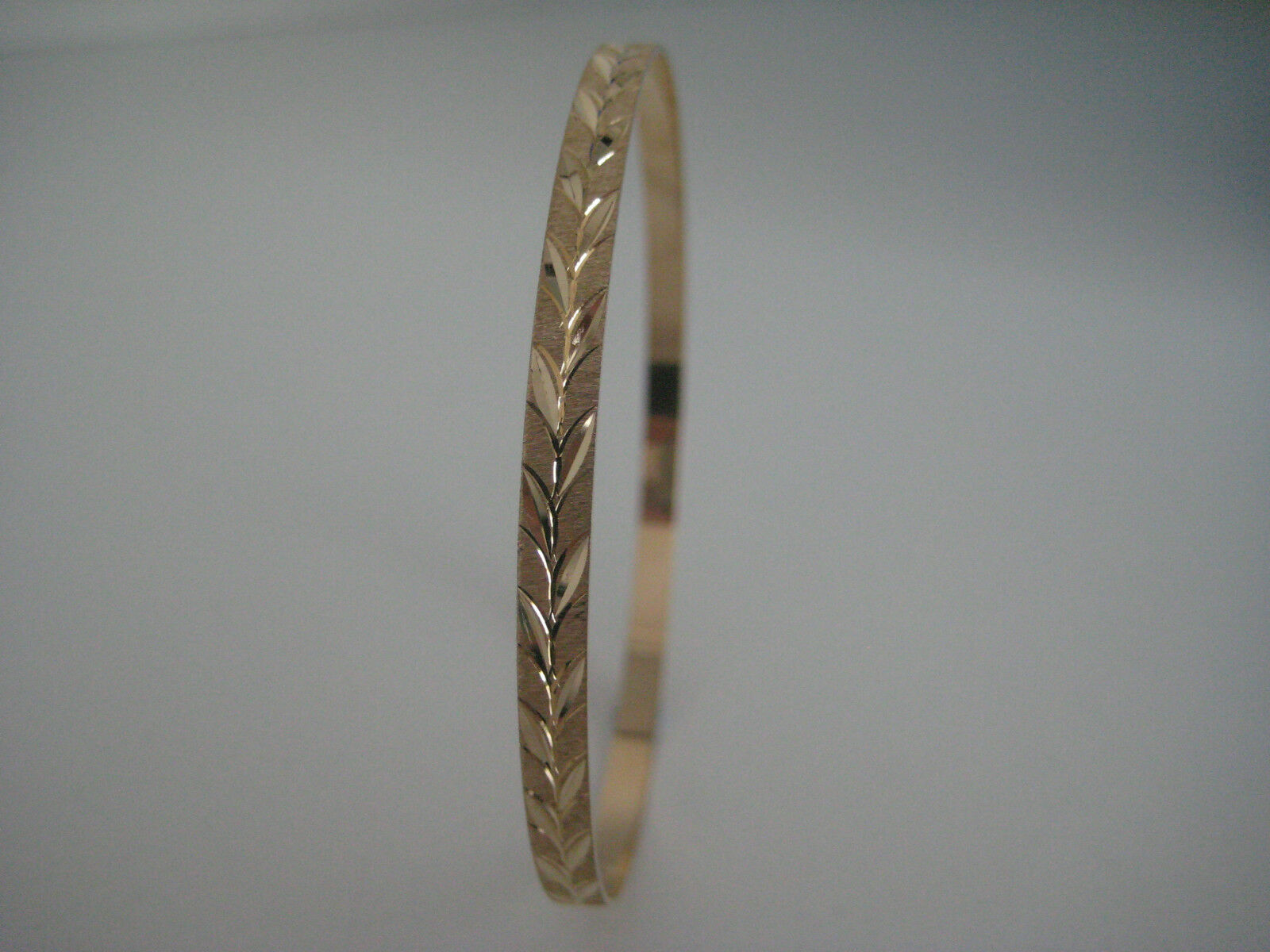 Slave Bracciale in oro giallo solido 9 9 9 carati DIAMOND CUT SATINATO 4mm 5b8505