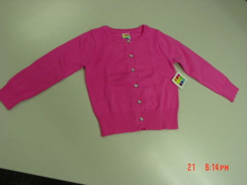 NWT NWOT Infant Toddler Girls Pink Cardigan Sweater Healthtex