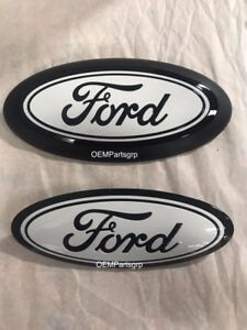 Details about 2018 + Ford F150 Custom Grille/Tailgate Emblem Gloss Black  (UA)/White, No camera
