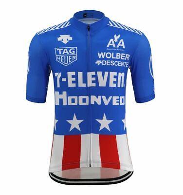 New Men Cycling Jerseys XXL Replica Retro 7-Eleven Bike Clothing Road Bicycle