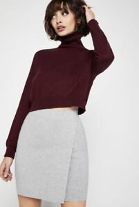 1637b426e9f Image is loading NEW-BCBG-Turtleneck-Crop-Sweater-Marled-Brulee-Sweaters-
