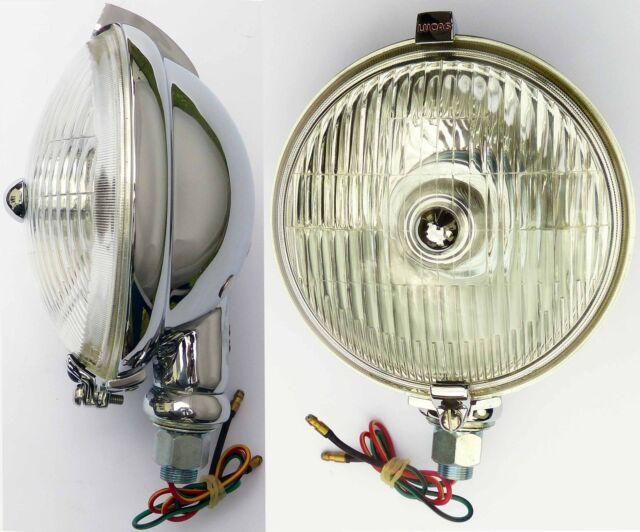 Lucas SFT576 Chrom Nebelscheinwerfer / Nebel Leuchte für Oldtimer MG Triumph