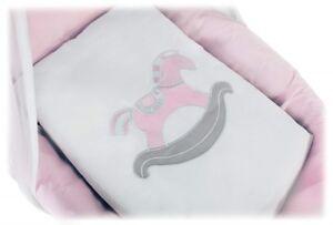 Wiegenset mit Applikation Nestchen Matratze für Wiege Design BABY ROSA