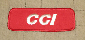 "Vintage CCI Cascade Cartridges 4"" Wide Red Arm - Hat - Shirt Patch - AMMO GUNS"