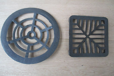"""4/"""" ROUND Cast Iron Gully Grid Driveway Drain Cover Metal Wrought Gutter !NEW"""