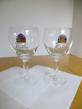 Leffe Beer Glass  (Pair)  -Set of 2-   250 ml  8oz. Chalice Barware Advertising