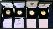 ENGLAND ELIZABETH II 1994, 1995, 1999, & 2001 PROOF SILVER 2 POUND COINS w/BOXES