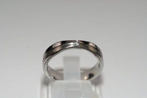 Tom Tailor Damenring Edelstahl Ring T7 Besatz weiß 19 / 190 / 60 edel rar NEU