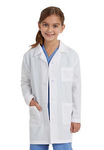 NATRUAL UNIFORMS CHILDRENS LAB COAT + free disposable surgical cap