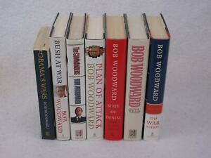 Lot of 7 Bob Woodward POLITICAL HISTORY BOOKS