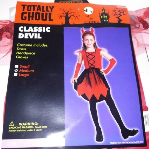 Details about  /Halloween Costume Totally Ghoul Kids Girls Classic Devil Red Black