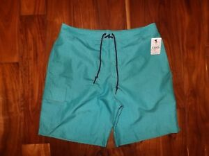 1003b5157a NWT Mens CHAPS Green Swim Shorts Trunks Swimsuit Large L $50 | eBay
