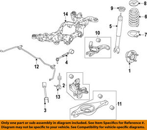 details about lincoln ford oem 2013 mkt rear suspension knuckle spindle de9z5b759a 2013 Lincoln Mkt Engine Diagram lincoln mkx water pump location