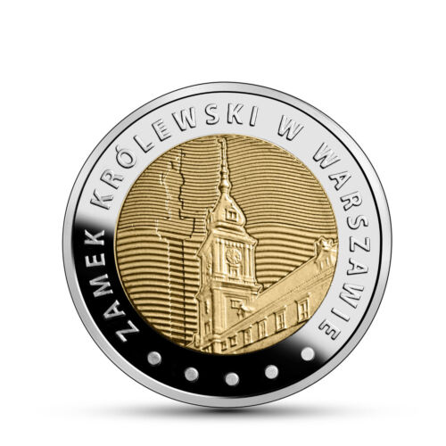 POLAND 5 ZLOTY ROYAL CASTLE WARSAW COMM BI-METALLIC 2014 UN