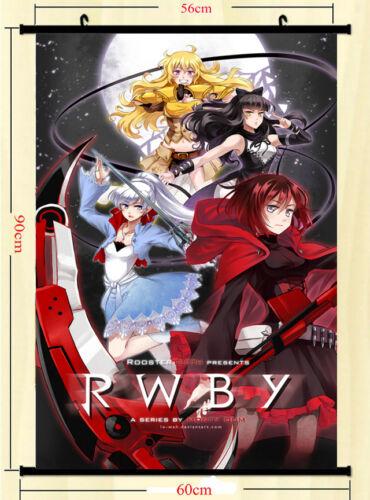 RWBY Volume 2 Cartoon Anime Wall Scroll Silk Poster 24x36 inches Red Trailer 005