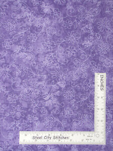 Sundrenched-Butterfly-Flowers-Purple-Tonal-Cotton-Fabric-Traditions-By-The-Yard